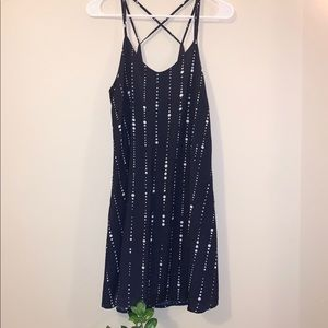 Lulu's navy blue shift dress